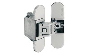 Петля скрытая H7 3D цамак хромированная матовая 180 ° вес дверей: 70кг