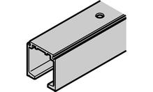 Одинарная ходовая шина с отверстиями 31х33мм, алюминий, без покрытия, 2м