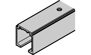 Одинарная ходовая шина с отверстиями 31х33мм, алюминий, без покрытия, 3м
