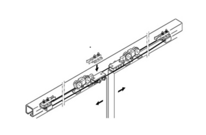 Комплект фурнитуры SLIDO CLASSIC SYNCRO P для 2-х дверных полотен