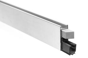 Уплотнитель выдвижной для дверей, серый, одностороннее срабатывание 830мм