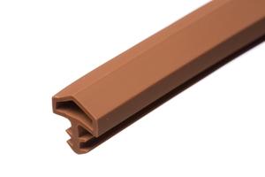 Уплотнитель для межкомнатных дверей PVC, коричневый 10мм (25м)