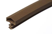 Уплотнитель для межкомнатных дверей PVC, темно-коричневый 10мм (25м)