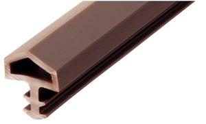 Уплотнитель для межкомнатных дверей PVC, бежевый 10мм (25м)