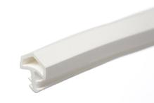 Уплотнитель для межкомнатных дверей PVC, белый 10мм (25м)