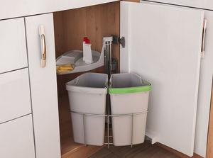 Відро для сміття Еко-Центр 2-відра, кріплення універсальне фасад 400-600мм