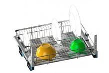 Сушка для посуды выдвижная в ящик высокая 800 мм